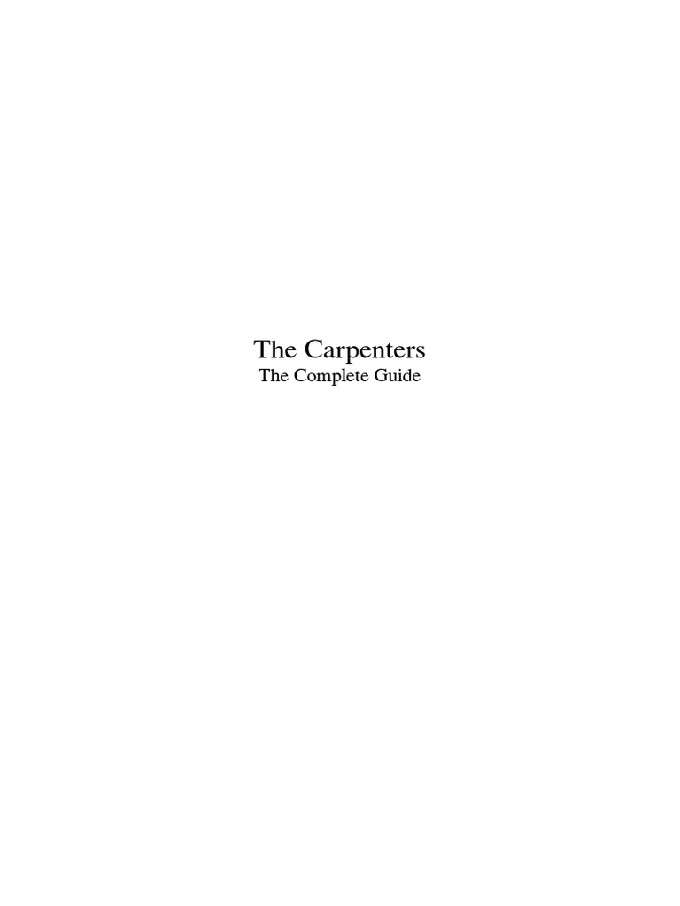 The carpenterspdf recorded music american musical groups fandeluxe Images