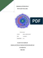 Proposal Penelitian Penyakit Malaria