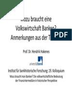 Hakenes_wozu Braucht Eine Volkswirtschaft Banken