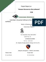 Praveen Kumar Project HR MBA HCM