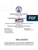 Uti Mutual Fund Project