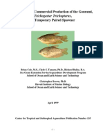 A Manual for Commercial Production of the Gourami,