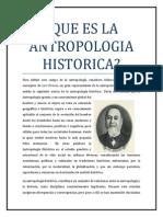Que Es La Antropologia Historica Ensayo Terminado