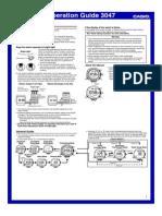 Manual Casio Sea Pathfinder