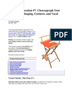 Choreograph Your Speech With Staging, Gestures, And Vocal Variety