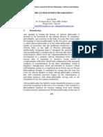 Ada Agada-Is African Philosophy Progressing Ft 2-1 2013