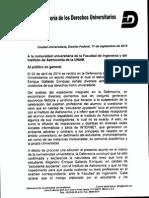 Comunicado Sep 2014, Alejandro Gallardo Enriquez