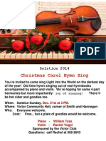 Christmas Solstice 2014 - Flyer