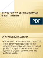 Things to Know Before One Invest in Equity Market
