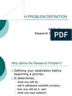 Research Problem Definition & Proposal Writing