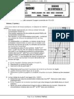 Ds3 4eme Sadiki 12 Maths