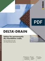 Delta 43746 Delta Drain Membrana de Protectie Si Drenaj