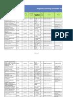 CLF- Regional Learning Schedule