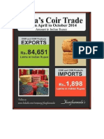India Coir Trade from April to October 2014