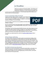 Dissertations Deadline