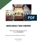 Libro Menos Misas y Más Comunión