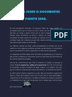 Resumen de julian  Sobre El Documental Planeta Zara