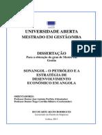 Sonangol - O Petróleo e a Estratégia de Desenvolvimento Econ