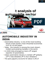 an analysis of cost structure of indain Automobile companies