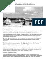 Origins, Beliefs and Practices of the Doukhobors