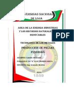 1.- Produccion de Piezas Fundidas