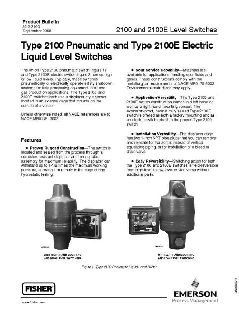 Level Switch 2100.pdf | Switch | Nozzle