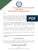 Visita Ufficiale Per Le Oculopatie e Ricerca