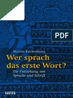 Kucken_Burg Die Entstehung von Sprache und Schrift