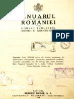 ANUARUL ROMANIEI Pentru Comert Industrie, Meserii Si Agrikultura.1928