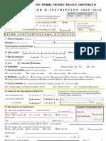 Inscription Dossier 09-10