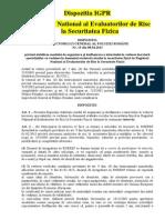 Dispozitia IGPR Registrul National Al Evaluatorilor de Risc La Securitatea Fizica