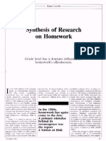Sythesis of Research on Homework