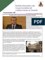 Boletín del Grupo Socialista del Cabildo de Tenerife 105. 8 - 14 diciembre 2014