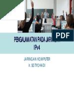 Pert08-Pengalamatan Jaringan IPv4