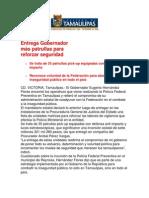 com1003 201206 Entrega Gobernador Eugenio Hernández más patrullas para reforzar seguridad