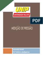 Medição de Pressão