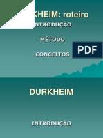 Aula 1 Durkheim O Fato Social. a Sociedade Como Objeto Científico. as Formas de Solidariedade e a Integração Societária.
