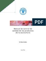 Manual de Control de Calidad de Los Productos de La Acuicultura