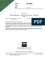EN15049 Railway Applications Suspension Components Torsion Bar