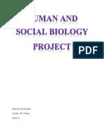 Human & Social Biology PROJECT