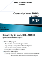 Creativity in an NGO Final Presentation