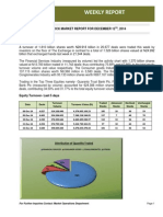 Nigeria Stock Exchange Weekly Market Report for the Week Ended 12-12-2014