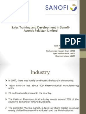 Sales Management Presentation | Sanofi | Sales