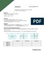 DS1A Mathématiques 1ere S