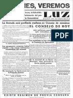Luz (Madrid). 22-6-1934