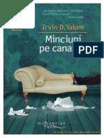 Irvin D.yalom - Minciuni Pe Canapea