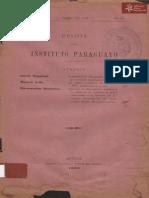 Revista Instituto Paraguayo N° 25 año 1900