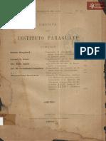 Revista Instituto Paraguayo N° 28 año 1900