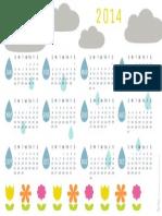 2014 RS Rain Clouds Calendar