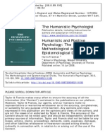 Friedman - Humanistic and Positive Psychology